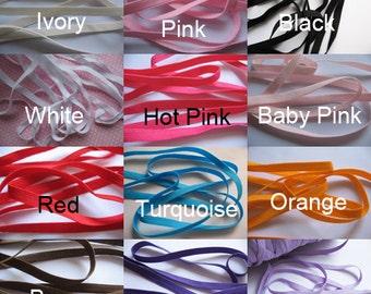 "50y 1/4"" Skinny Elastic For Headband-U Pick L023-1"