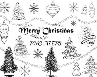 Christmas Clip Art CHRISTMAS CLIPART TreeChristmas Ornaments Holiday ClipartChristmas VectorSnowflake ClipartCelebration