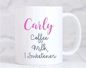 Personalised Mug, Personalised Coffee Mug, Personalised Tea Mug, Coffee Tea Instructions mug, For Her, Christmas Gift, Birthday Gift, Coffee