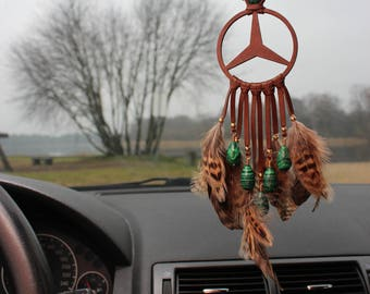 Mersedes Benz Car Decor, Personlized Car Mirror accessories, Malachite Car Decor,  Gift For Mersedes Owner And Lover.