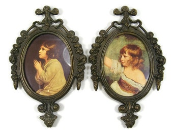 Small Ornate Oval Picture Frames Metal Wall Picture Frame