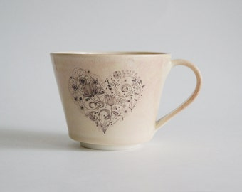 Handmade Coffee Mug Porcelain Pottery Handmade Pottery Mug Handmade Ceramic Mug