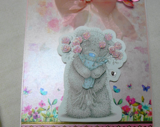 3D Decoupage, Birthday Card, Greeting Card, Thank You, Love, Valentines Card,  Anniversary Card, Female, Niece, Daughter, Teenager