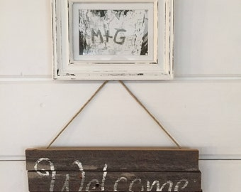 Rustic Barn Wood Welcome Sign