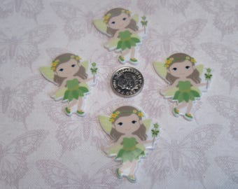 Fairy Planar FlatBack Resin Cabochon Decoden Kawaii DIY Craft Embellishment Scrapbook Hair Bow Centre Phone Case
