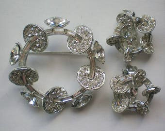 1954 Astra Brooch and Clip Earrings by Joseph Wiesner - 5851