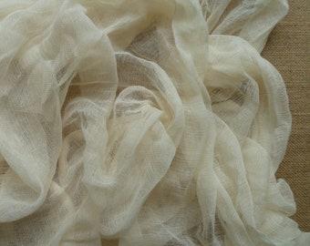 Natural cotton scrim - cotton scrim - cotton gauze - cheesecloth fabric - cotton scrim fabric - gauze fabric - scrim for wet felting