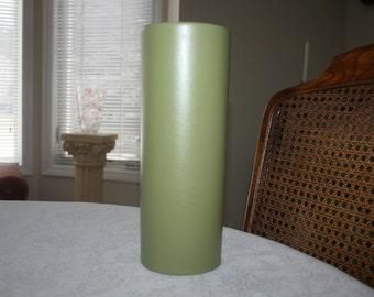 Vintage Hyalyn Green Cylinder Vase 315 USA