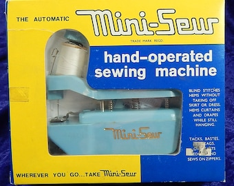 The Automatic Mini-Sew Hand Operated Sewing Machine Vintage 1970's