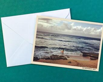 Hookipa Beach Surfer Greeting Card | Maui, Hawaii | Blank