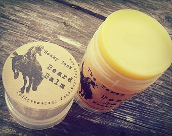 Honky Tonk Beard Balm (Teakwood Mahogany and leather)