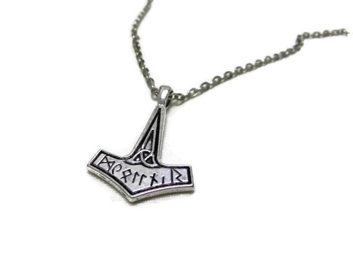 Mjlnir thors hammer necklace simple mjlnir necklace zoom aloadofball Images