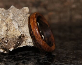 Zebra  Wood Ring - any size