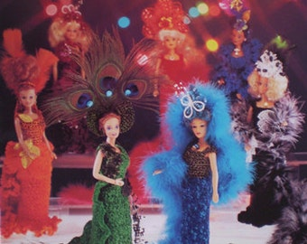 American School of Needlework Barbie Fashion Doll Showstoppers Crochet Doll Pattern 7 Designed Costumes NEW original pattern