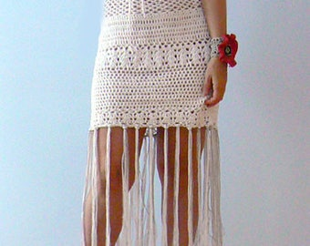 Fringe crochet fitted mini dress-White sexy tulle crochet dress-Wedding fringe dress-Casual, fashion, women beach dress,corset crochet dress