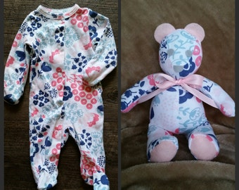 Baby sleeper bear, memory bear, mini 8-10in.