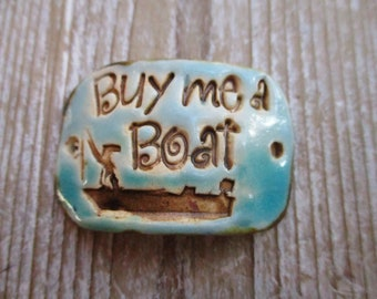 Buy Me A Boat Bracelet Connector Bracelet Supplies Handmade ceramic pottery clay beads