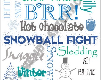 8 x 10 Winter Subway Art - Digital Download - PDF File