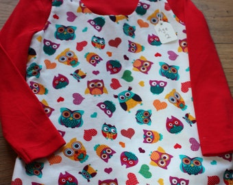 Owl Print Pinafore Dress