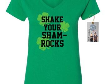 Shake Your Shamrocks St. Patrick's Day Women's V-Neck T-Shirt