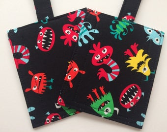 Handmade Novelty Silly Monster Faces Luggage/Stroller/ID/Backpack/Purse Tags