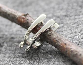 Leverback Earrings Sterling Silver 1 pair, Sterling Silver Earring Components, Leverback Earrings Sterling Silver 925, Leverbacks Earrings
