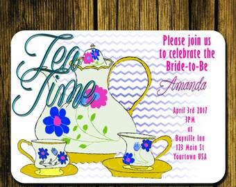 Tea Time Bridal Shower Invite