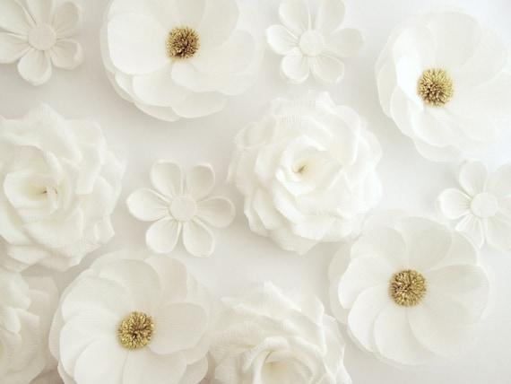 Deko Blumen 12 papier blumen wand blumen arch blumen