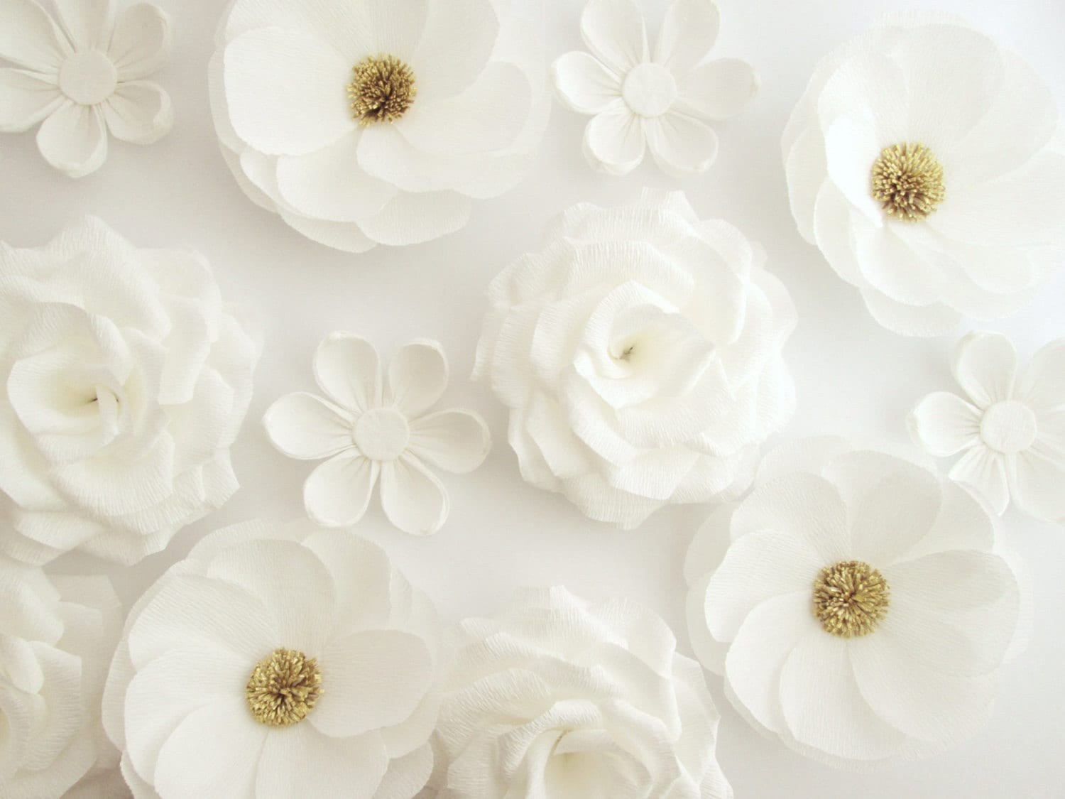 12 paper flowers wall flowers arch flowers wedding zoom mightylinksfo