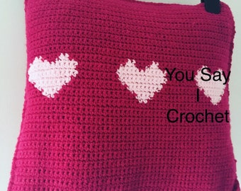 Love Heart Cushion Cover