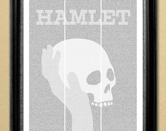 Hamlet, full-text poster, 16x20 in. (Instant Download)