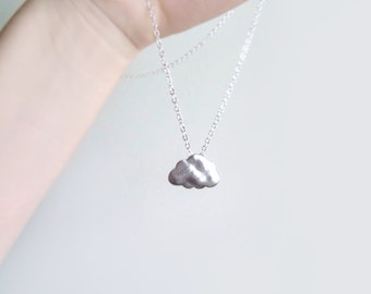Cloud Pendant on Silver Chain