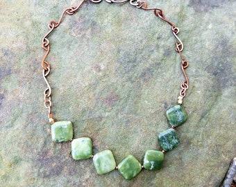 Soft, Green.... Serpentine Necklace