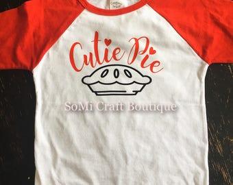 Cutie Pie | Valentine's Day | Valentine's Day Shirt | Toddler Fashion | Sibling Fashion