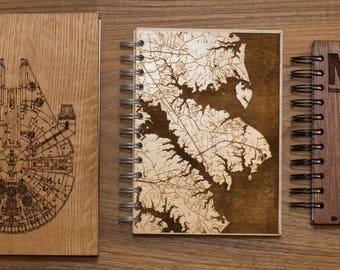 Custom Wooden Journal - Lined