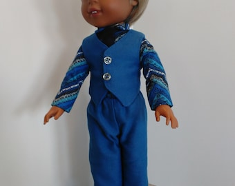 """14.5"""" boy doll 4 piece set, made to fit 14.5"""" dolls"""