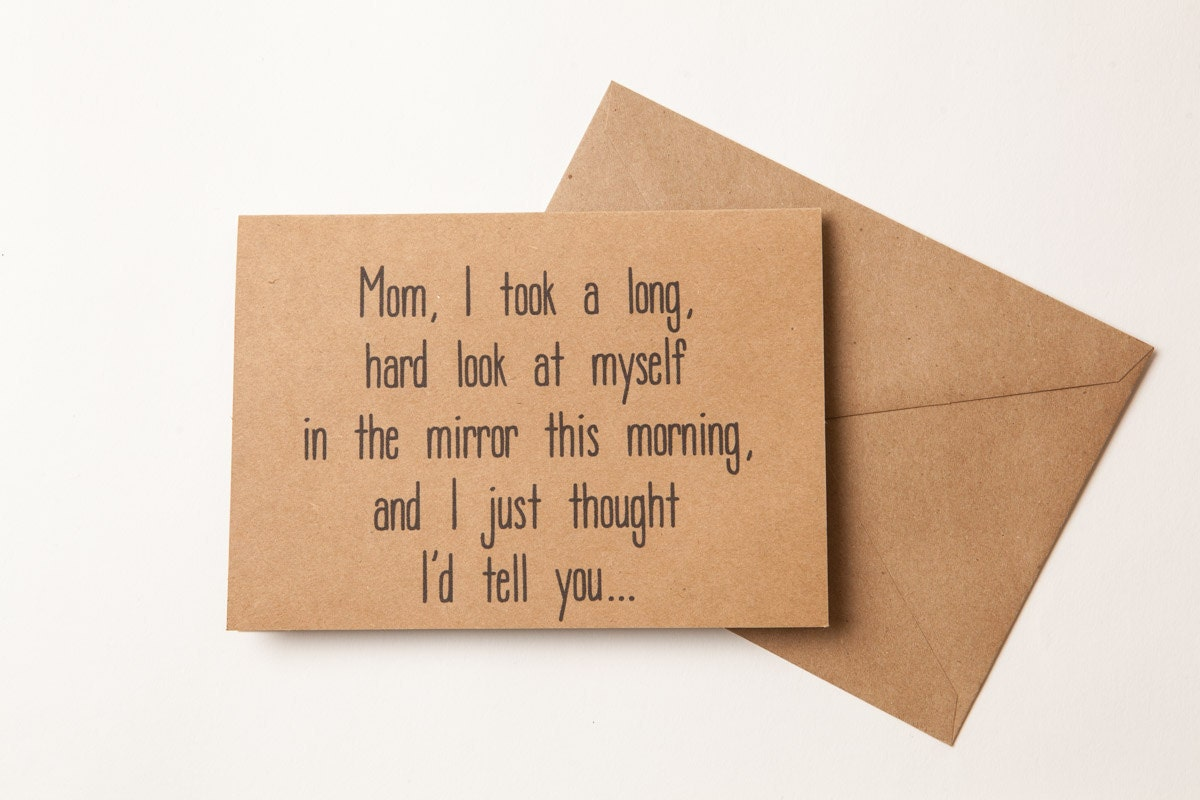 NICE JOB MOM For Birthday Funny Card For Mother To Mom