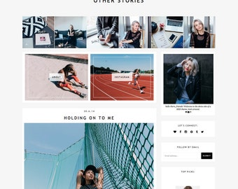 "Blogger Template ""Other Stories"" // Responsive Premade Blogspot Blog Theme Design"