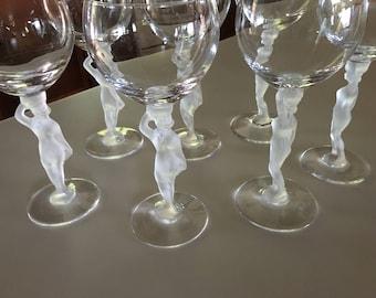 Set of 8  Bayel Bacchante Crystal Wine Glasses