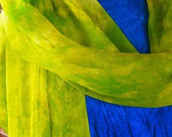 Chartreuse Silk Chiffon Wrap
