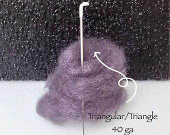 Triangular felt needle, Triangle felting needles 40g, needle for felting, Needle 40 gauge. Lenght : 3''