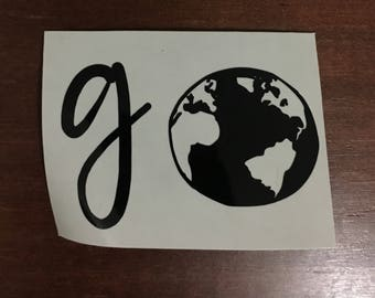 Go Decal - Travel Decal - Wanderlust Decal - Explore Decal - Adventure - Explore - Yetti Sticker - iPhone decal - Car Decal - Laptop Sticker