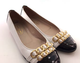 Vintage two tone Dutch designer ballerinas, 38