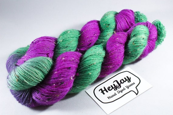 Donegal Tweed Sock Yarn - Bluefaced Leicester - Cherry Tree