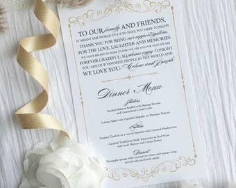 Wedding Menu and Thank You   Menu    Thank You   Wedding Menu - Style 06 - GRACEFUL COLLECTION