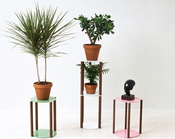 Bi-stander Plant Stand - Tiered - Stackable - Minimal Modern Planter Holder