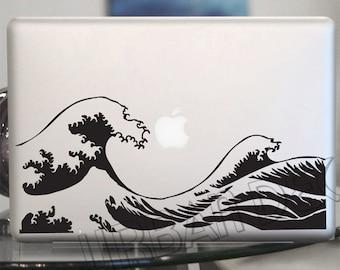 Kanagawa Wave Decal - Hokusai Vinyl Sticker -  Laptop, Car, Window, Wall