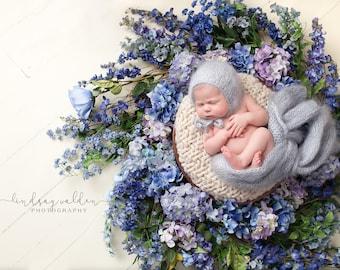 Newborn wraps / newborn wrap bonnet set / newborn photo outfit / stretchable wrap / mohair wrap / super fluffy wrap / newborn fluff bonnet