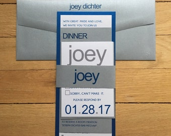 The Joey // Bar mitzvah invitation