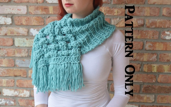 PATTERN: The Celtic Crochet woven cowl scarf. Giant scarf